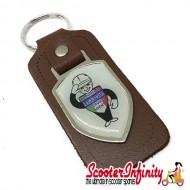 Key ring chain - Lambretta Service Agent No. 2 (Brown)