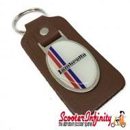 Key ring chain - Lambretta British Stripes (Brown)