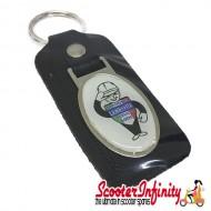Key ring chain - Lambretta Service Agent No. 2 (Black)