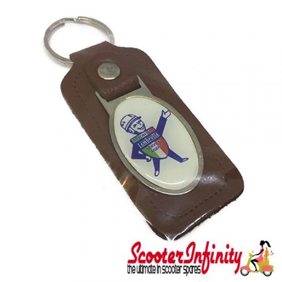 Key ring chain - Lambretta Service Agent No. 1 (Brown)
