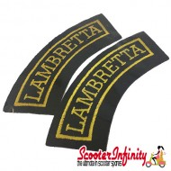 Patch Clothing Sew On - Lambretta Curves (110mm, 35mm)