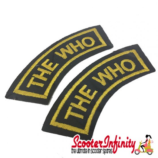 Patch Clothing Sew On - The Who Curves (110mm, 35mm)