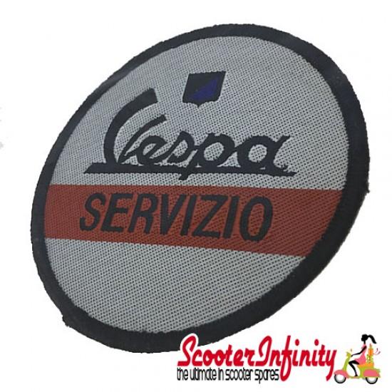 Patch Clothing Sew On - Vespa Servizio (No. 2) (80mm, 80mm)