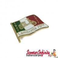 Pin Badge - Lambretta Flag 1947 - 2017