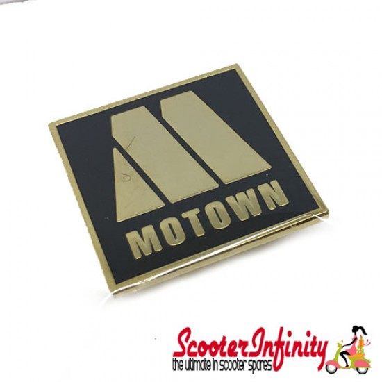 Pin Badge - Motown (Square, Gold)