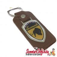 Key ring chain - Scomadi (Brown, Shield)