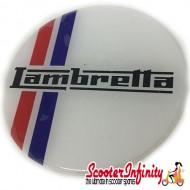 Badge Sticker Domed - Lambretta Stripes (75mm, 75mm)