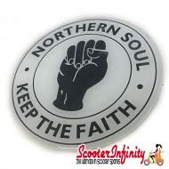 Badge Sticker Domed - Northern Soul (75mm, 75mm)