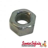Nut Flywheel (M12x1,25 mm, h 10,0mm) (Vespa PK50-125 2?/S 2?/XL /XL2/125 GTR 2?/150 TS 2? /Sprint V 2?/Super 2?/200 Rally 2?/PX80-200/PE/Lusso /Cosa/T5, for GILERA/PIAGGIO,  125-200cc 4-Stroke LC)