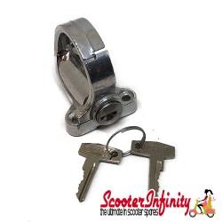 Luggage Helmet Hook (at frame/seat, hole distance 35mm, lockable) (All Vespa models)