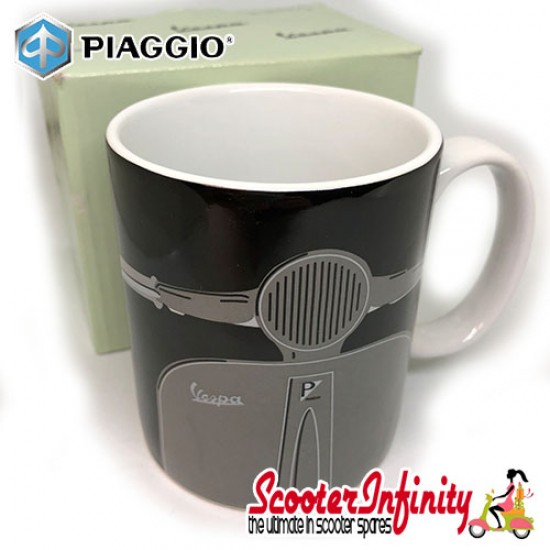 Mug / Cup - GO Vespa (Black, with Emblem)