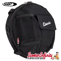 """Bag Spare Wheel 10inch """"Classic"""" (SIP) (Black) (24x5 cm) (Classic Vespa, Lambretta)"""