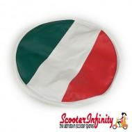 Wheel Cover (For Spare) Italian Flag Colours (Lambretta / Vespa)