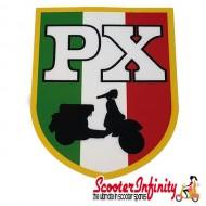Sticker Emblem VESPA PX Italy (66mm, 85mm) (Vespa PX)