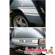 "Sticker Set Kit ""PX 200"" Rally  Style (4pcs White) (Vespa PX)"