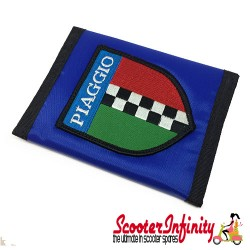 Wallet Piaggio Italian Check (Blue, black trim)