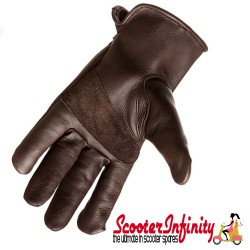 Gloves / Corazzo Cordero Brown Leather (Scooter Gloves, Mod Stylish)