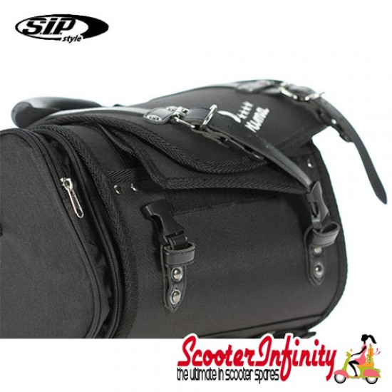 Case Top Box / Roll Bag Classic SIP Style - VESPA PX GTS/GT/GTV/LX LAMBRETTA (FITS TO ANY CARRIER) (10L) (Black)