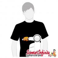 T-Shirt SIP Vespa GTS / LX (Black) (Male)