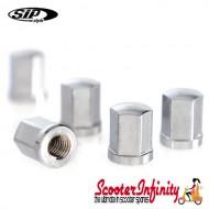 Nut Hexagonal (For SIP Tubeless Rim) (Silver Nut, x1) (Vespa or Lambretta)