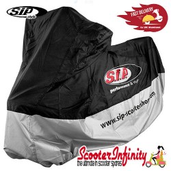 Scooter Waterproof Cover SIP (Blue / Silver) (Fits any scooter, including: Vespa / Lambretta)