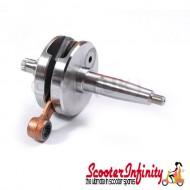 Crankshaft MAZZUCCHELLI (stroke 58mm, conrod 107mm,  pin 16mm, cone large 25mm) (Lambretta DL, GP)