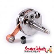 Crankshaft MAZZUCCHELLI (stroke 58mm, conrod 107mm,  pin 16mm, cone small 21mm) (Lambretta LI, LIS, SX )