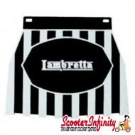 Mudflap Lambretta (Black Stripes) (Universal Lambretta Fitment)