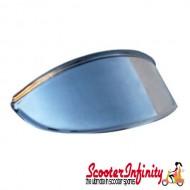 Headlight Peak Cap (Chrome) / Small Type (Vespa / Lambretta Universal Fitment)