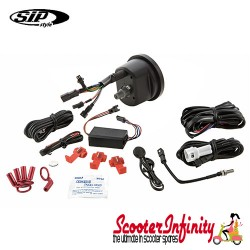 SIP Digital Speedo / Rev Counter *NEW V2.0* (White Face) (Lambretta LI 125/150 1?/2?/TV 175 1?)