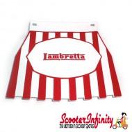 Mudflap Lambretta (Red Stripes) (Universal Lambretta Fitment)