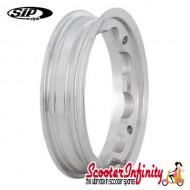 Wheel Rim Tubeless SIP Polished (aluminium, KBA 50164, valve premounted) (2.10x10) (Lambretta)