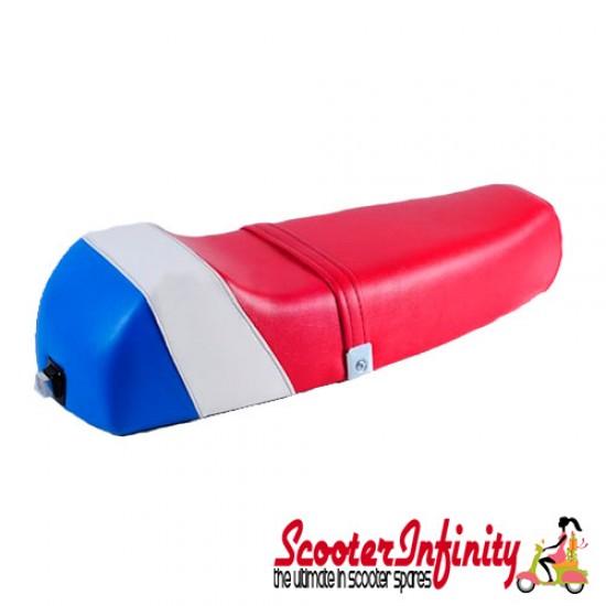Seat Super Corsa (British Colours - Red White Blue) (Vespa P, PX, T5 Classic)