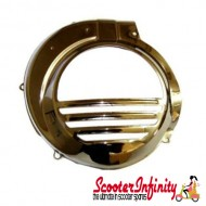 Flywheel Cowling/Cover (Electric Start Vespa PX) (Chrome)