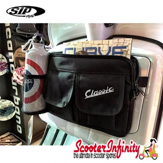 "Bag Glovebox Toolbox ""Classic"" (SIP) (Black) (Fits around glovebox door) (Classic Vespa, Modern Vespa)"