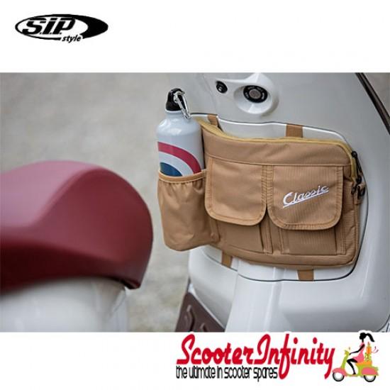 "Bag Glovebox Toolbox ""Classic"" (SIP) (Beige) (Fits around glovebox door) (Classic Vespa, Modern Vespa)"