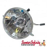 Headlight Unit PIAGGIO (Without Bulb) (Vespa PX/MY, PX80-200/PE /Lusso, 180-200 Rally)