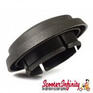 Hub Nut Cap Cover / Wheel Centre Brake Drum (Plastic, Dark Grey) (36MM) (Vespa PX80-150X/PX80-200E /Lusso/`98/MY/`11/T5/Cosa)