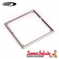 Number Plate Surround (Stainless Steel) (7Inch Square) (Universal Fitting) (Vespa, Lambretta)