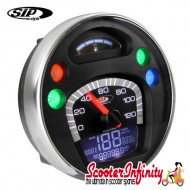 SIP Digital Speedo / Rev Counter *NEW V2.0* (Black Face) (Vespa PX/MY/T5 Classic)