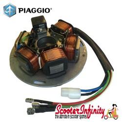 [Discontinued, Purchase BGM Version] - Stator Plate (Piaggio) (5 wires, 5 coils) (Vespa PX80-200 E Lusso/98/MY  also P150X /P200E/PX125-200 E)