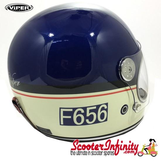 Helmet / VIPER F656 (Full Face - Blue Cream)