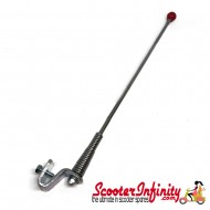Scooter Mod Aerial Red Ball (Chrome, 270mm Long)