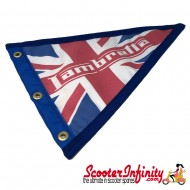 Flag Penant Lambretta Union Jack (Blue Trim) (With Eye Holes, for Whip Aerial)
