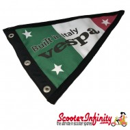 Flag Penant Vespa Italian (Black Trim) (With Eye Holes, for Whip Aerial)