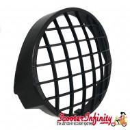 Headlight Grill Plastic Black (Vespa PX)