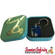 Key ring chain - Vespa (Blue, Legshield)