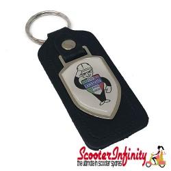 Key ring chain - Lambretta Service Agent No. 2 (Black, Shield)