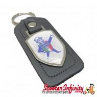 Key ring chain - Lambretta Service Agent No. 1 (Grey, Shield)