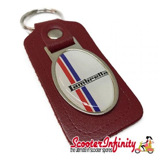 Key ring chain - Lambretta British Stripes (Red)